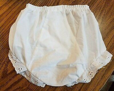 White Baby Toddler Bloomers Double seat panty - dressy babies many sizes