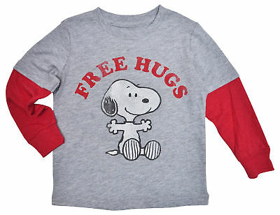 Peanuts Snoopy Hugs Baby Toddler Boys Long Sleeve T-Shirt