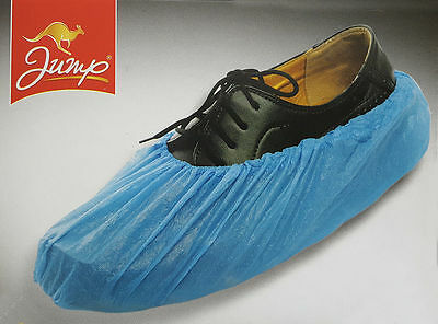 New 30Pcs Box Disposable Plastic Overshoes Shoes Cover Carpet Floor Protector UK