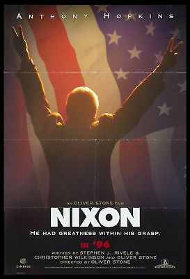 Original 1995 NIXON Movie Poster Advance 27x40 DS Theatrical NOT REPRODUCTION