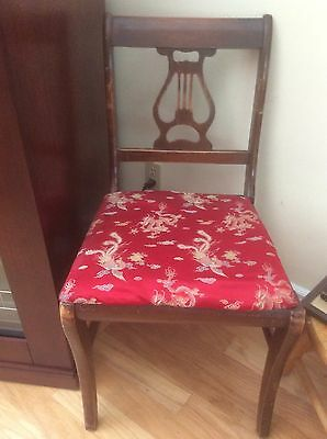 Duncan Phyfe Lyre Back Dining Room Chair with label
