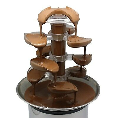 Chocolate Fountain Stainless Steel 900g of Chocolate Foods Cascade Quality NEW