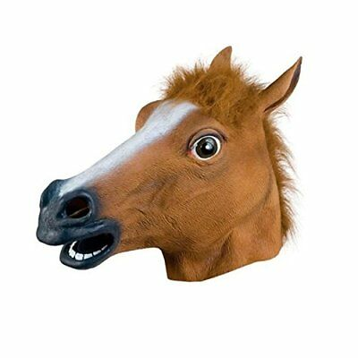 Halloween Horse Head Mask Latex Animal Cosplay ZOO Party Costume Prop Toys Novel