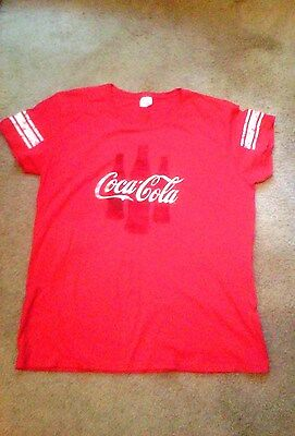 Ladies Coca-Cola Red Vintage Style T-Shirt - Size 2XL by Gildan - New