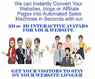 2D or 3D interactive talking avatars - Interact with your visitors