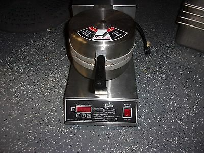 """Star Belgian Waffle Iron Maker 7"""" Round Commercial Restaurant Home"""