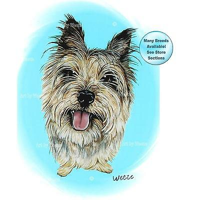 Cairn Terrier Art Print Dog Portrait Picture