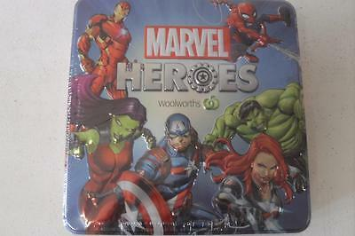 Woolworths Marvel Heroes -Collector's Tin -New -Empty Tin No Discs Included