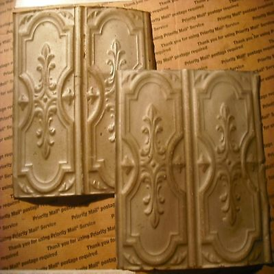 """Old Antique Decorative celing 12""""x12""""  tin 2 pc,s must see details"""