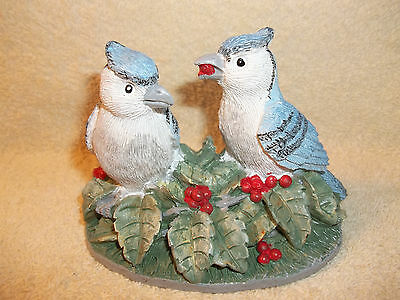 Hermitage Pottery American Bird Collection 1997 - Blue Jay's Figurine
