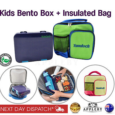 Bento Lunch Box With Kids Insulated Carry Cooler Bag School Picnic Thermal Tote