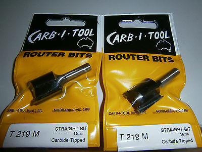 Router Bits X 2 , T 219 M , Straight 19 Mm ,carb-I-Tool, Carbide Tipped,new.