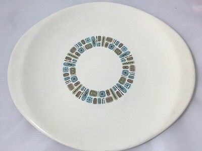 "VTG Canonsburg Temporama 13 3/4"" Oval Serving Platter Atomic MCM"