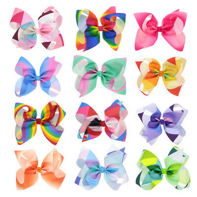 Lovely 8 Inch Baby&Girl Bows Hairpin Ribbon Hair Clip Headwear