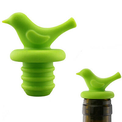Home Creative Bird Design Silicone Wine Stopper Bottle Corks Cap Bar Suppliers
