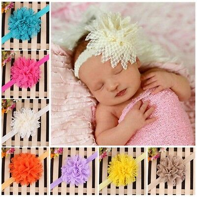 AU Baby Girls Headband Toddler Cute Lace Flower Hair Band Accessories Headwear