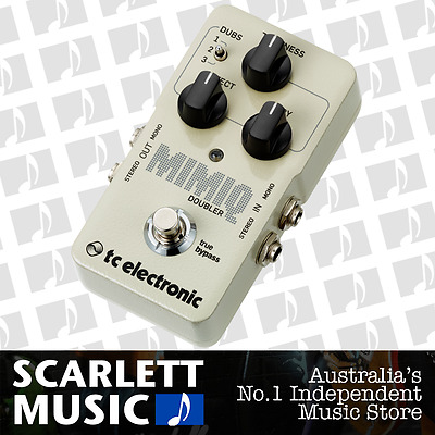 TC-Electronic Mimiq Doubler - Double Tracking Guitar Pedal w/12 Months Warranty.