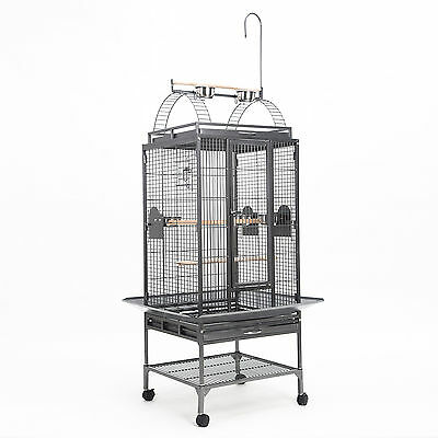 Bird Cage Parrot Aviary Pet Stand-alone Budgie Castor Wheels Super Large 192cm