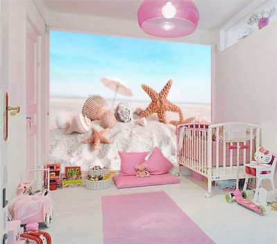 Starfish And Conch 3D Full Wall Mural Photo Wallpaper Printing Home Kids Decor
