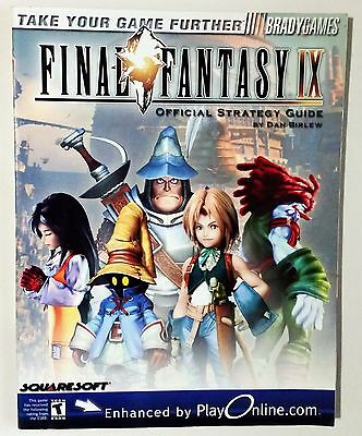 Final Fantasy IX 9 Official Strategy Guide Playstation PS1 BradyGames FFVIX FF9