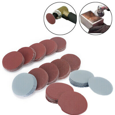 100Pcs 2 Inch 50mm Sanding Disc Polishing Pad  Sandpaper 80-3000 Grit Mix Set