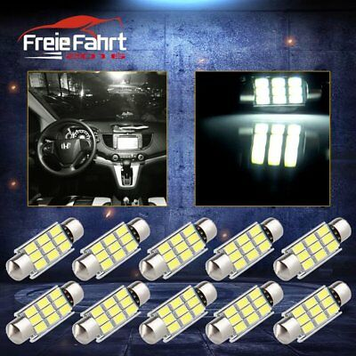 10x LED Soffitte 39mm C5W Canbus Innenraumbeleuchtung 9 hell SMD 6000k weiß 12V