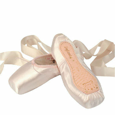 Professional Women's Lady Ballet Dance Shoes Toe Pointe Silk Satin Ribbons -F018