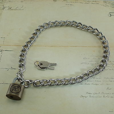 Padlock Lock R Pendant Charm Sex Pistol Rabbit Punk Choker Chain Necklace