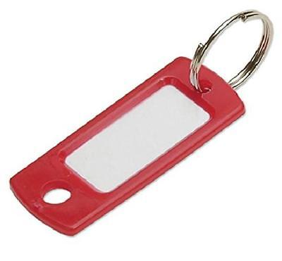 Lucky Line Key Tag With Ring; Red, 50 Per Bag (16970)