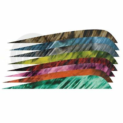 "Tre Colour Feathers 4"" Right Wing for Archery Arrows Traditional Longbow Recurve"