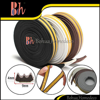 Self-Adhesive EPDM Rubber Foam Doors Windows Sealing Weather Stripping E Type