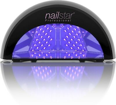 LED Nail Lamp Dryer Quick Dry Professional For Gel Polish Built-In Timers Black