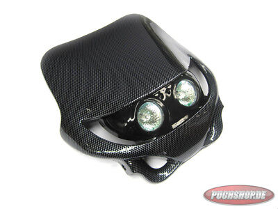 Streetfight Lampenmaske Carbon Universal Puch Moped front with light Tuning