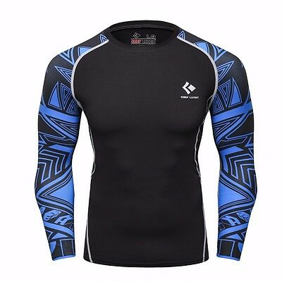 Mens Compression Top/shirt, MMA sports, Gym, training. Free Postage
