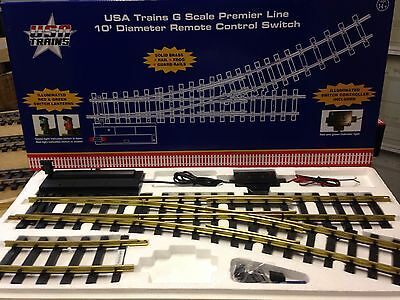 Usa Trains R81720 10´ Right Hand Remote Switch / Point G Scale Electric