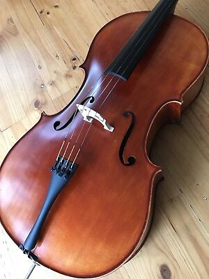 Beautiful 3/4 Size Cello And Bow by Award Winning John Wu.