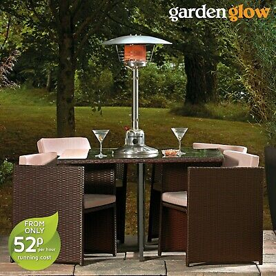Garden Glow Powerful 4kW Table Top Gas Powered Patio Heater With Heat Control