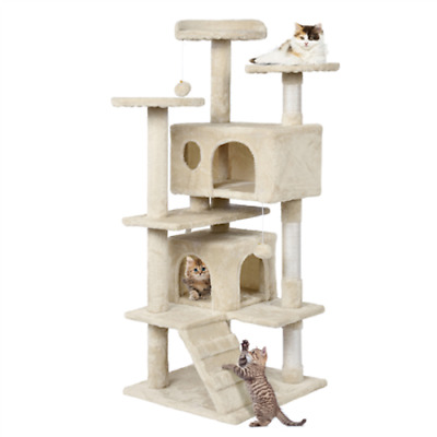 Cat Tree House Stand Playground Activity Condo Set Tower Scratching Posts SALE
