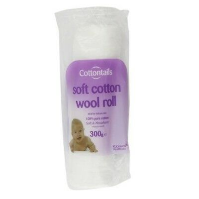 Cottontails Soft Cotton Wool Roll 300G