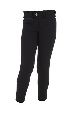 RED HORSE Childrens Pull On Breeches - 'Indy' - Black
