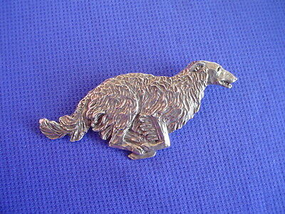 Borzoi Wolfhound Pin RUNNING #17E Pewter Hound Dog Jewelry by Cindy A. Conter