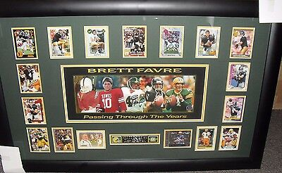 """Brett Favre SIGNED AUTOGRAPH """"Passing Through The Years"""" Photo RC Collage BF COA"""