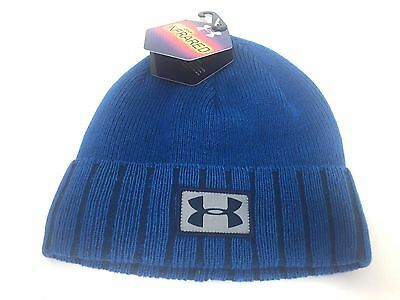 Under Armour Men's Sideline Beanie Beanie Blue OSFA Cold Gear Infrared