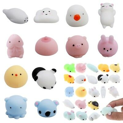 23 Types Mini Animal Squeeze Stretch Squishy Slow Rising Stress Relief Toys Gift