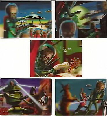 2012 Topps Mars Attacks Complete 85 Card 1962 Reproduction Set + Poster + Box +