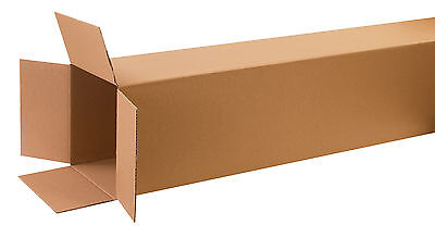 "Box Partners Tall Corrugated Boxes 12"" x 12"" x 60"" Kraft 10/Bundle 121260"