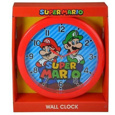 "Super Mario Brother  Wall Clock 9.5"" Room Decor Clock for Kids"