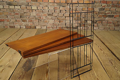 60er Danish Modern STRING REGAL WANDREGAL TEAK REGALSYSTEM BÜCHERREGAL 60s 2