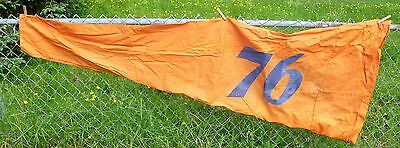 Vtg Union 76 Canvas Airport Windsock Cone 7 Foot