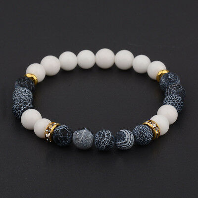 2017 New Men Women's Yoga Bead Charm Agate Stretch Lovely Fashion Bracelets